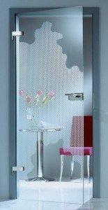 врата от рисувано стъкло