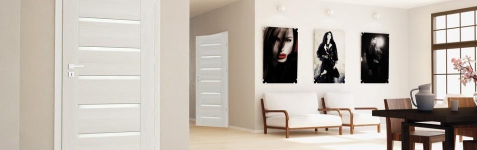Вътрешни интериорни врати за дома от стъкло и пластмаса