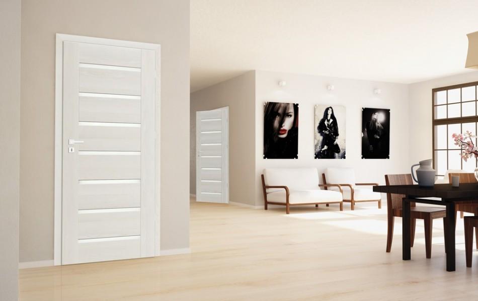 Монтирани врати Greko - бяло